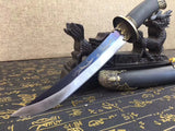 Bat dagger,High carbon steel,Black wood,Alloy - Chinese sword shop