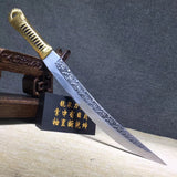 Hunting knife,High carbon steel etch blade,Leather,Alloy