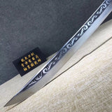 Broadsword,High carbon steel etch blade,Alloy,Black wood - Chinese sword shop