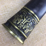Fengyun sword,Medium carbon steel etch blade,Black wood,Alloy - Chinese sword shop