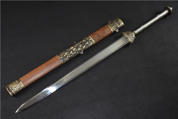 Fengyun sword,High manganese steel blade,Rosewood scabbard,Alloy fitting - Chinese sword shop