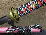 samurai sword,Medium carbon steel bade,Pink scabbard,Alloy fittings