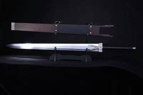 Chinese swords,Fankuai Sabre,High-carbon steel blade,Wood scabbard,Alloy fitted,Length 27 inch