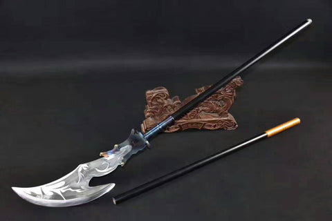 Chinese sword,Battle-axe(High manganese steel blade,Stainless steel rod)