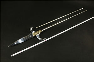 Spear with hooked sickle,kamayari,High carbon steel blade,Cold weapon - Chinese sword shop
