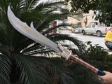 "Guandao,Kwan Dao,High manganese steel blade,Leather Scabbard,Length 52"" - Chinese sword shop"
