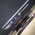 Guandao sword(High carbon steel,Leather scabbard)Length 50""