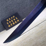 Black gold sword,High carbon steel blue blade,Black wood,Alloy - Chinese sword shop