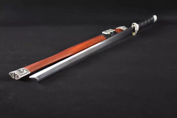 Han jian(High carbon steel blade,Red wood,Alloy fitted)Full tang - Chinese sword shop