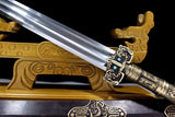 Han jian sword,Damascus steel blade,Brass fittings - Chinese sword shop