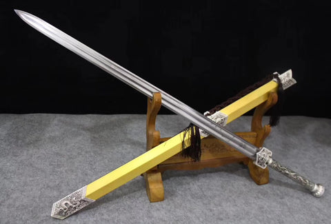 Han jian,Hand Forged,Heat Tempered,High manganese steel blade,Alloy - Chinese sword shop