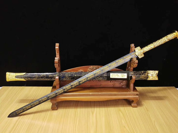 Han jian sword,Medium carbon steel etch blade,Alloy fittings-Kung fu - Chinese sword shop