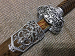 Jian sword,High carbon steel blade,Rosewood,Silver alloy fitting - Chinese sword shop