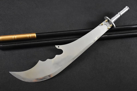 "Guan Gong/Moon Broadsword/High carbon steel blade,Stainless steel rod,Length 82"" - Chinese sword shop"