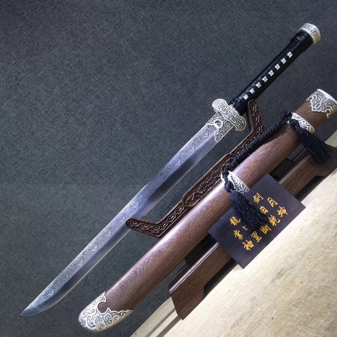 Black gold knife,High carbon steel blade,Chinese sword
