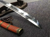 Broadsword,da dao,High carbon steel burn blade,Redwood,Alloy - Chinese sword shop