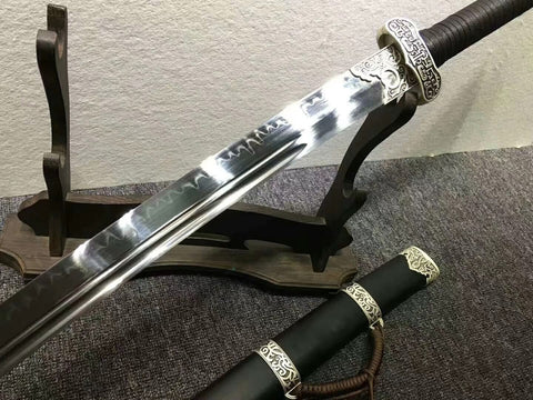 Broadsword,Handmade High carbon steel burn blade,Kirsite fittings&Handmade art - Chinese sword shop