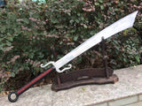 Anti-Japanese sword/High carbon steel/Leather scabbard/Full tang - Chinese sword shop