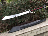Anti-Japanese sword/High carbon steel/Leather scabbard/Full tang/Length 34""