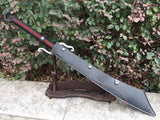 "Anti-Japanese sword/High carbon steel/Leather scabbard/Full tang/Length 34"" - Chinese sword shop"