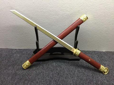 Tang dao,Sword,High manganese steel etch blade,Redwood,Alloy