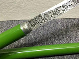 Stick sword,Handmade(High carbon steel etch blade)Full tang