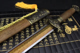 Song sword,High carbon steel steel etch blade,Rosewood,Alloy - Chinese sword shop