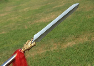 China dragon spear,Liuhe Pike,Stainless steel spearhead,Length 82 inch - Chinese sword shop
