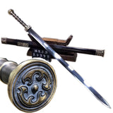 Han jian sword,Damascus steel Eight blade,Brass fittings - Chinese sword shop
