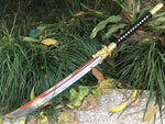 Jinlong dao,High carbon steel blade,Leather scabbard,Alloy fitting - Chinese sword shop
