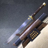 14 Blades dagger,High carbon steel etch blade,Rosewood,Brass