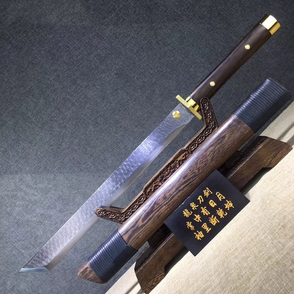 14 Blades dagger,High carbon steel etch blade,Rosewood - Chinese sword shop