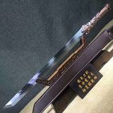Tang dao(High Manganese steel blade,Leather,Alloy handle)Length 27""
