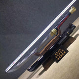 Cut horse broadsword,High carbon steel blade,Wood,Alloy - Chinese sword shop