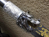 Small guandao,High carbon steel,Black scabbard,Alloy fitting - Chinese sword shop