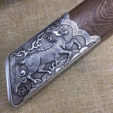Kangxi baodao,High carbon steel etch blade,Alloy fittings,Rosewood scabbard - Chinese sword shop