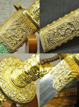 Kangxi collection sword,Damascus steel,Alloy fittings,Imitation skin scabbard - Chinese sword shop