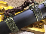 "Kangxi Short swords(High carbon steel,Black scabbard,Alloy)Length 26"" - Chinese sword shop"
