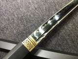 Katana,High carbon steel burn blade,Black paint scabbard - Chinese sword shop