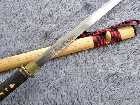 Tang sword,Ninja,High manganese steel,Hardwood,Alloy