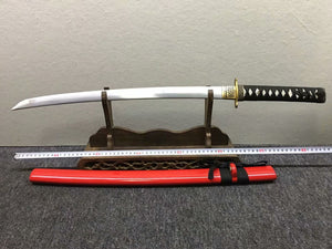 Katana,High carbon steel,Red scabbard,Alloy,Length 30inch - Chinese sword shop