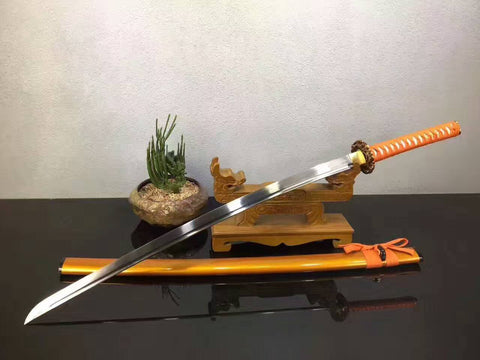 Samurai sword,katana(High manganese steel,Golden scabbard,Alloy fitted)Full tang