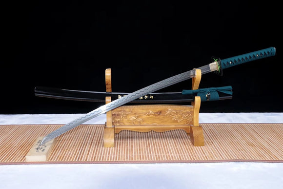 Samurai sword,Damascus steel blade,Wood scabbard - Chinese sword shop