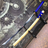 Samurai sword-High carbon steel blade-Ecru wood scabbard-Alloy fitted - Chinese sword shop