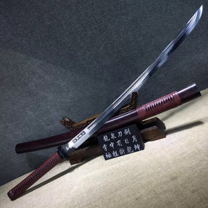 Broadsword,High carbon steel etch blade,Solid wood,Alloy - Chinese sword shop