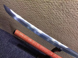 "Tachi,Damascus steel,Red skin scabbard,Length 48"" - Chinese sword shop"