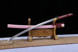 Samurai sword,Medium carbon steel blade,Pink scabbard - Chinese sword shop
