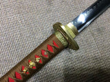 Ninja Sword(High-carbon steel burn blade,Red scabbard,Brass)Full tang - Chinese sword shop