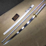 katana,High carbon steel blade,White scabbard,Alloy - Chinese sword shop