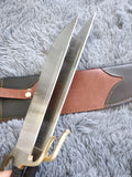Wing chun Eight cut knife,Stainless steel blade,Leather,Brass - Chinese sword shop